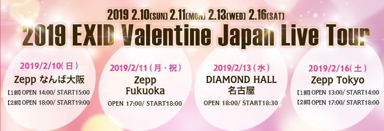 2019 EXID Valentine Japan Live Tour